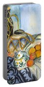 Cezanne Still Life With Apples In Watercolor Portable Battery Charger