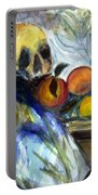 Cezanne Still Life With Skull Portable Battery Charger
