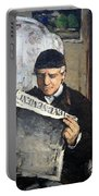 Cezanne's Father Reading Le Evenement Portable Battery Charger