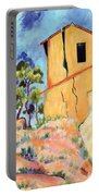 Cezanne's House With Cracked Walls Portable Battery Charger
