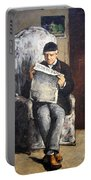 Cezanne's The Artist's Father Reading Le Evenement Portable Battery Charger