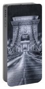 Chain Bridge Night Traffic Bwii Portable Battery Charger