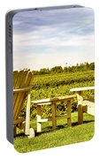 Chairs Overlooking Vineyard Portable Battery Charger