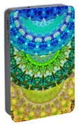 Chakra Mandala Healing Art By Sharon Cummings Portable Battery Charger