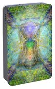 Chakra Tree Anatomy With Mercaba In Chalice Garden Portable Battery Charger