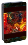 Challenges And Moments In Time Abstract Healing Art Portable Battery Charger