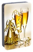 Champagne And New Years Party Decorations Portable Battery Charger