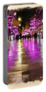 Champs Elysees In Pink Portable Battery Charger