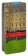 Changing Of The Guard In Front Of The Parliament Building In Ottawa-on Portable Battery Charger