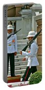 Changing Of The Guard Near Reception Hall At Grand Palace Of Thailand In Bangkok Portable Battery Charger