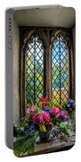 Chapel Flowers Portable Battery Charger by Adrian Evans