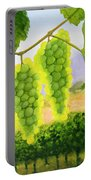 Chardonnay Grapes Portable Battery Charger by Mike Robles