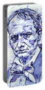 Charles Baudelaire Portrait Portable Battery Charger