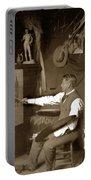 Charles Dickman Artist Monterey California Circa 1907 Portable Battery Charger