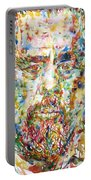Charles Mingus Watercolor Portrait Portable Battery Charger