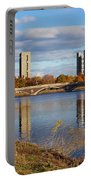 Charles River At Harvard In Fall Portable Battery Charger