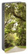 Charleston Avenue Of Oaks Portable Battery Charger by Stephanie McDowell