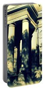 Charleston Church In Black And White Portable Battery Charger