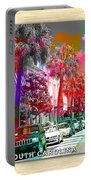 Charleston South Carolina Skyline  Portable Battery Charger