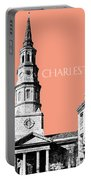 Charleston St. Phillips Church - Salmon        Portable Battery Charger