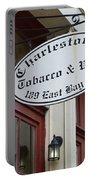 Charleston Tobacco And Wine Sign Portable Battery Charger