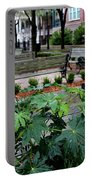 Charleston Waterfront Park Benches Portable Battery Charger by Carol Groenen