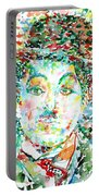 Charlie Chaplin - Watercolor Portrait Portable Battery Charger
