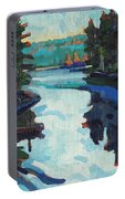 Charlton Lake Camp Sunrise Portable Battery Charger