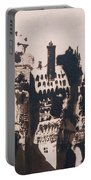 Chateau Fortified By Two Bridges Portable Battery Charger by Victor Hugo