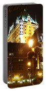 Chateau Frontenac At Night Portable Battery Charger