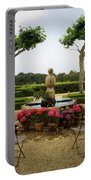 Chateau Malherbe Fountain Portable Battery Charger by Lainie Wrightson