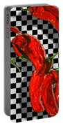 Checker Peppers Portable Battery Charger by Paul Wear