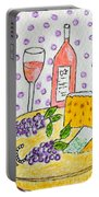 Cheese And Wine Portable Battery Charger