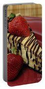 Cheesecake With Strawberries Portable Battery Charger