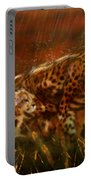 Cheetah Family After The Rains Portable Battery Charger