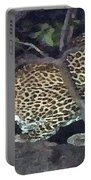 Cheetah Feeding In A Tree Portable Battery Charger