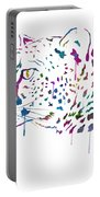 Cheetah Watercolor - White Portable Battery Charger