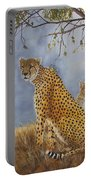 Cheetah With Cub Portable Battery Charger