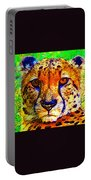 Face Of The Cheetah Portable Battery Charger