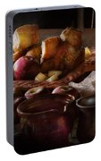 Chef - Food - A Tribute To Rembrandt - Apples And Rolls  Portable Battery Charger
