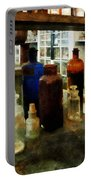 Chemistry - Assorted Chemicals In Bottles Portable Battery Charger