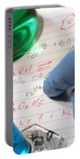 Chemistry Formulas In Science Research Lab Portable Battery Charger