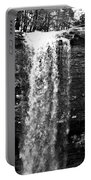 Cherokee Falls In Monochrome Portable Battery Charger