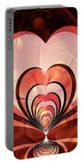 Cherries And Hearts Portable Battery Charger