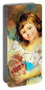 Cherry Basket Girl Portable Battery Charger