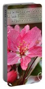 Cherry Blossom Greeting Card With Verse Portable Battery Charger