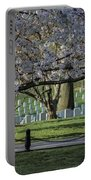 Cherry Blossoms Adorn Arlington National Cemetery Portable Battery Charger