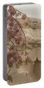 Cherry Blossoms At The Martin Luther King Jr Memorial Portable Battery Charger