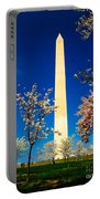 Cherry Blossoms At The Monument Portable Battery Charger