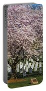Cherry Blossoms Grace Arlington National Cemetery Portable Battery Charger